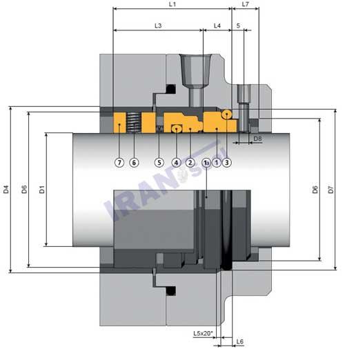 نقشه-فنی-مکانیکال-سیل-آمبرا-dr1-s