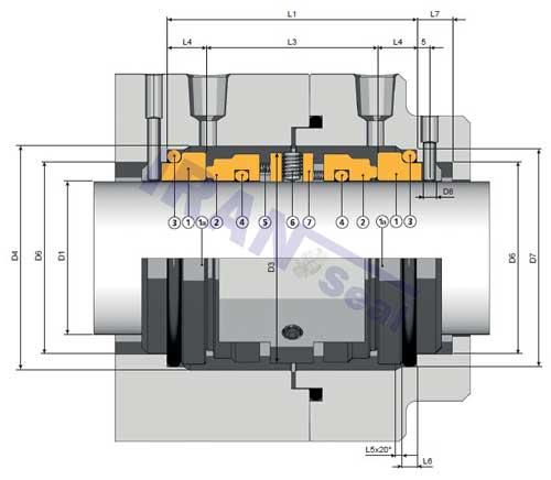 نقشه-فنی-مکانیکال-سیل-DRD-1-آمبرا