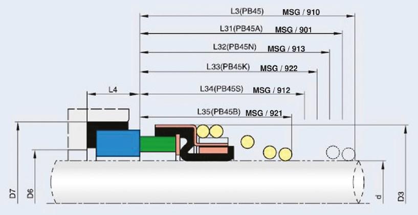 نقشه فنی مگاسیل msg 9